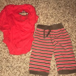 Old Navy 6-12 Month Cozy Christmas Outfit